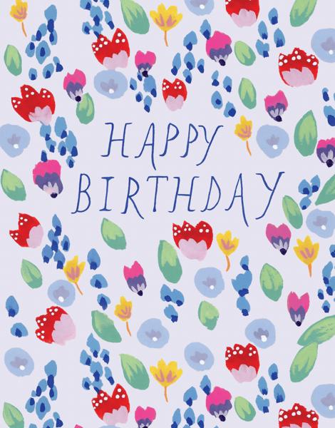 Rainbow Flower Birthday