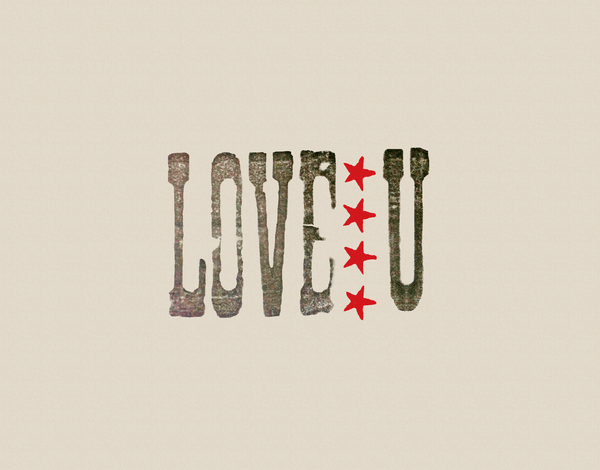 Vintage Stamp Love You Card