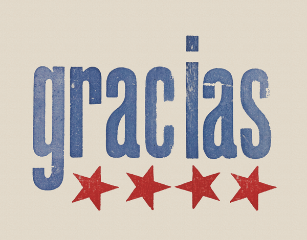 Stamped Gracias Thank You Card