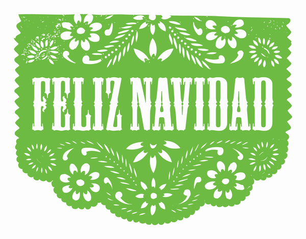 Green Cut Out Navidad Christmas Card