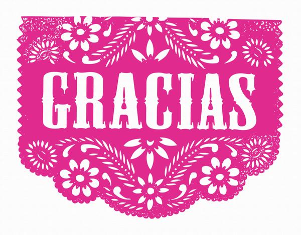 Pink Gracias Greeting Card