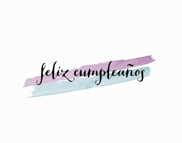Feliz Cumpleanos Birthday Card