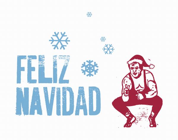 Frosty Feliz Navidad Christmas Card