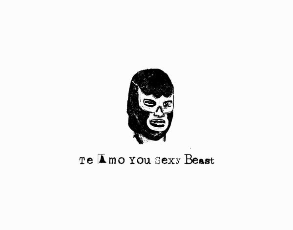 Luchador Sexy Beast Love Card