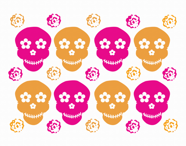 Bright Day of the Dead Card