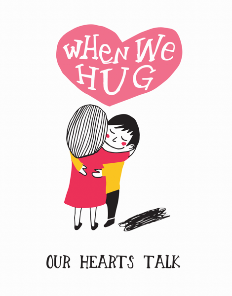 Adorable Hug Friend Card