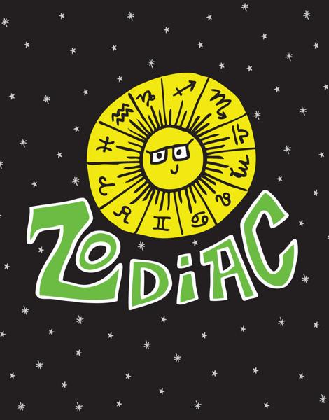 Illustrated Zodiac Everyday Card