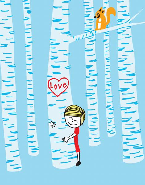 Tree Hug Love Card