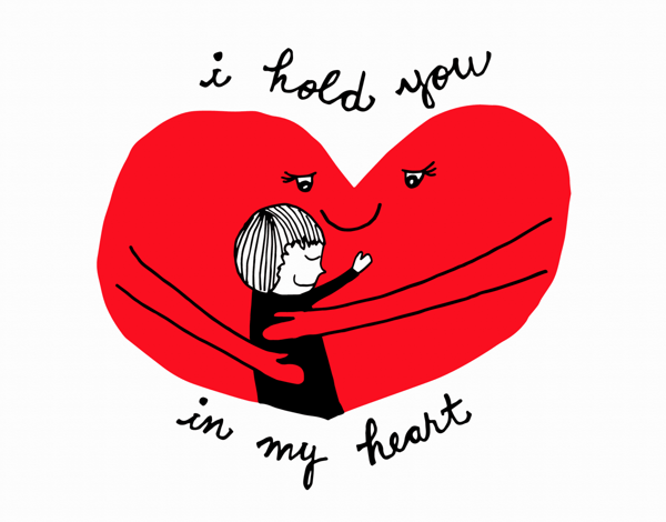 I Hold You In My Heart Friend Card