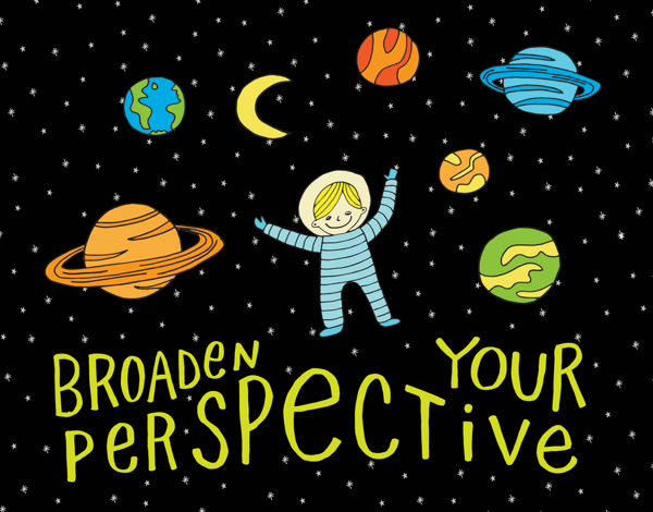 Adorable Broaden Your Perspective Card