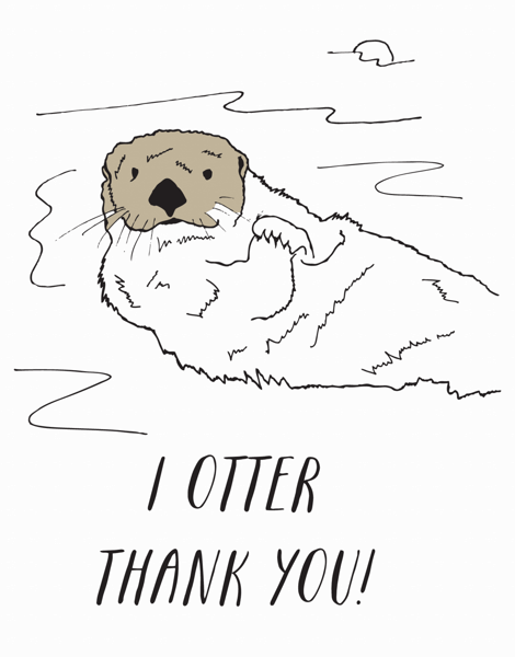 Otter Thank You