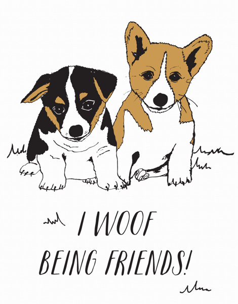 Woof Being Friends