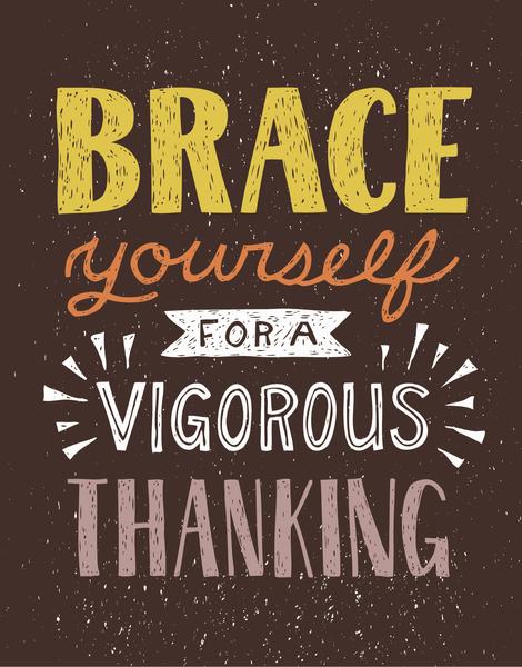 Vigorous Thanking