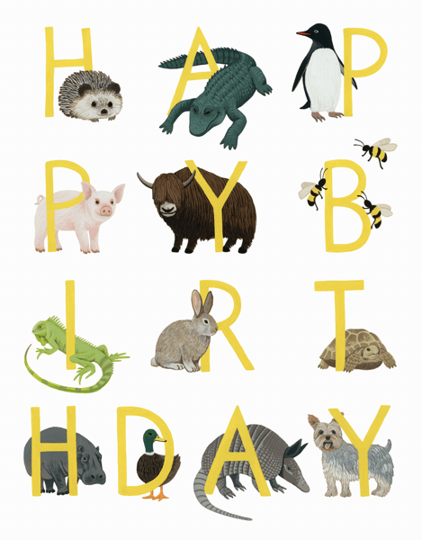 Birthday Menagerie