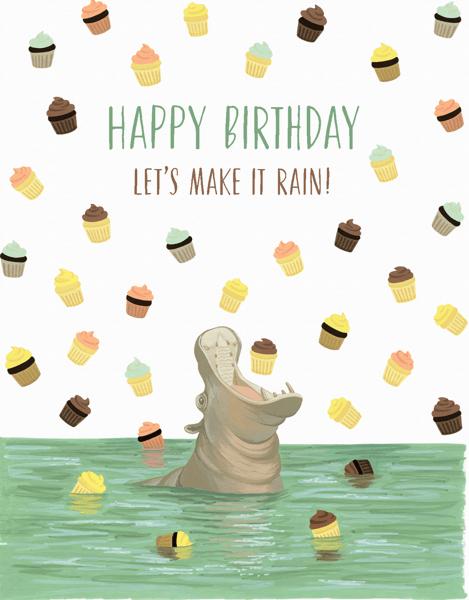 Hippo Cupcakes