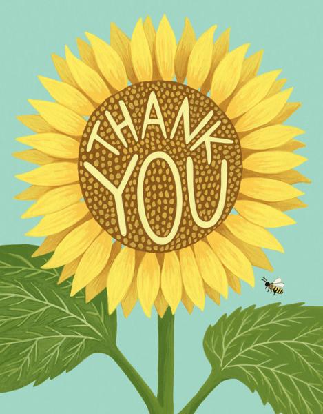 Sunflower Thanks