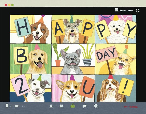 Dog Birthday Zoom