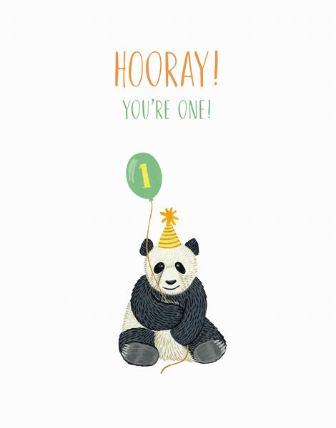 Panda First Birthday