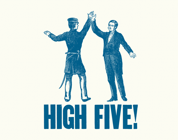 Vintage High Five Congrats Card