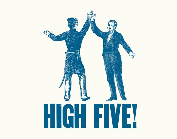 Vintage High Five Congrats Card