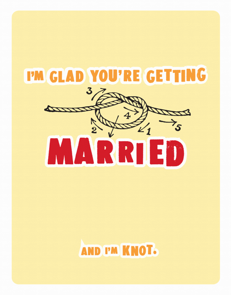 Funny Pun Wedding Congrats Card
