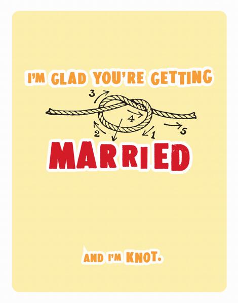 Funny Pun Wedding Congrats Card
