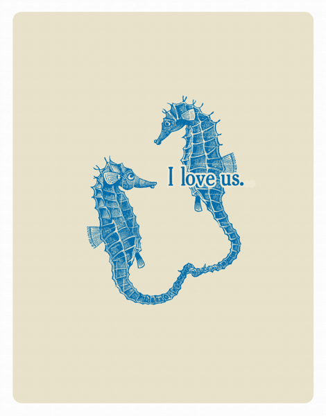 Sea Horses I Love Us Love Card
