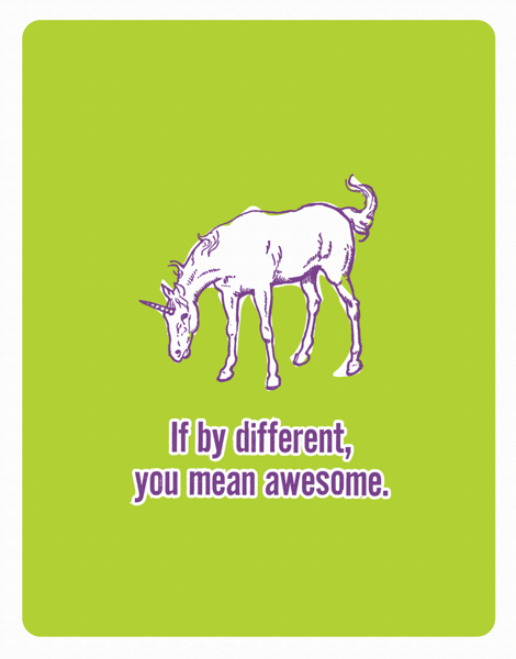 Funny Unicorn Friend Card