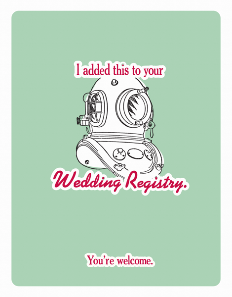 Illustrated Funny Wedding Congrats Card