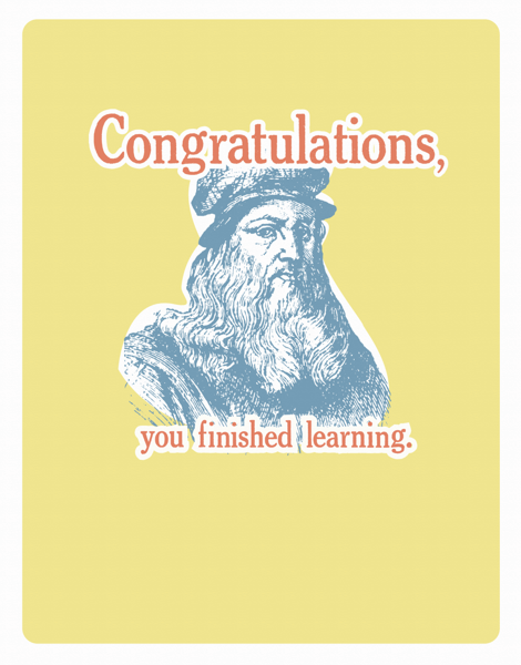 Quirky Graduation Congratulations Card